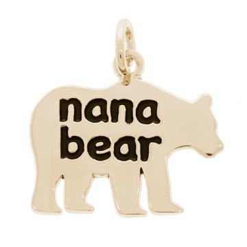 Rembrandt Nana Bear 14k Gold Pendant