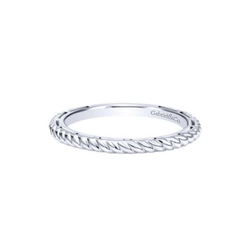 Gabriel & Co. 14k White Gold Twisted Rope Stackable Ring