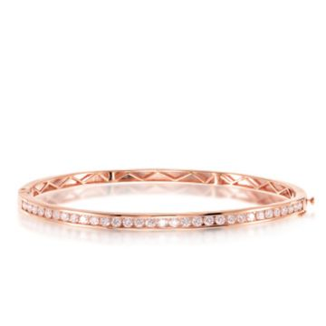 Epoque 14k Rose Gold Diamond Bangle
