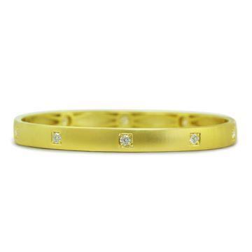ILA 14k Yellow Gold Sequin Diamond Bangle