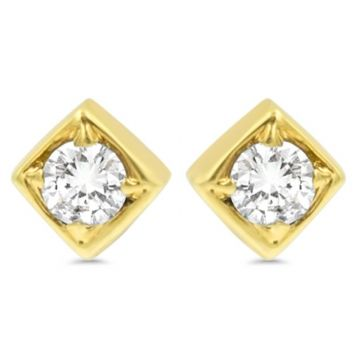 LexiMazz Designs 14k Gold Lex Single Diamond Stud