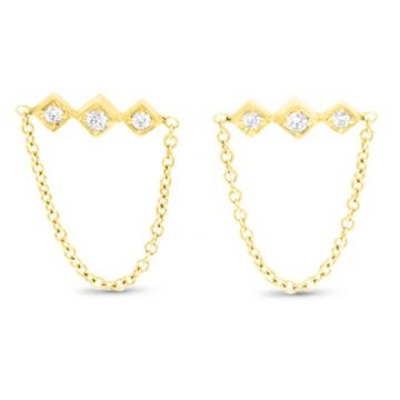 LexiMazz Designs 14k Gold Lex Triple Diamond Dangle