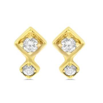 LexiMazz Designs 14k Gold Lex Double Diamond Stud