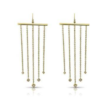 LexiMazz Designs 14k Gold Lex Five Diamond Dangle Earrings
