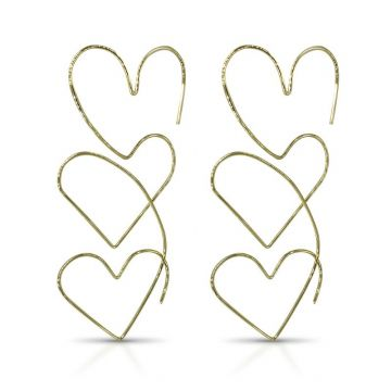 LexiMazz Designs 14k Gold Infinity Heart Thread Earrings