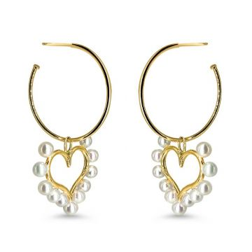 LexiMazz Designs 14k Gold Diana's Love Mini Hoop/ Charm/ Earrings