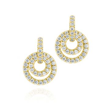 Gumuchian Moon Phase 18k Gold and Diamond Drop Convertible Earrings