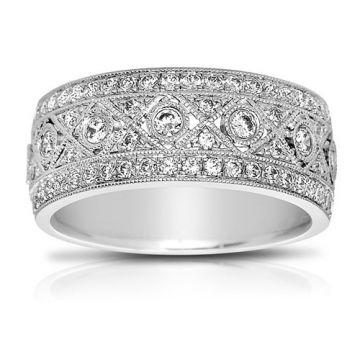 Fischer 18k White Gold Contemporary Fashion Ring