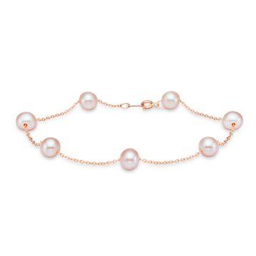 Mastoloni Rose Gold Tin Cup Pearl Bracelet