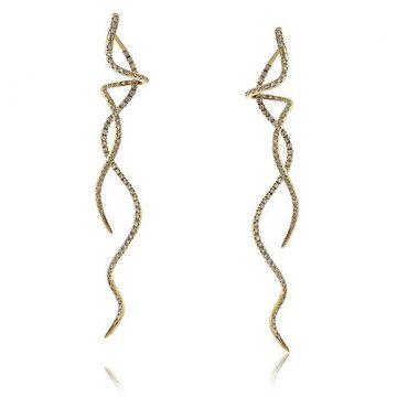 18K White Gold Spiral Earrings