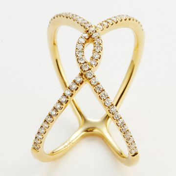 "18K White Gold Fashion ""X"" Ring"