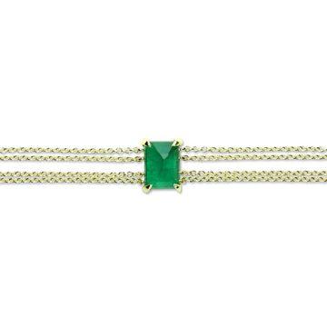 ILA 14k Yellow Gold Hopkins Emerald Bangle