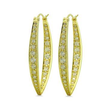 ILA 14k Yellow Gold Laramie Diamond Earrrings