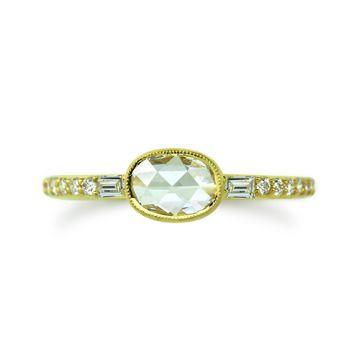 ILA 14k Yellow Gold Swinton Diamond Ring
