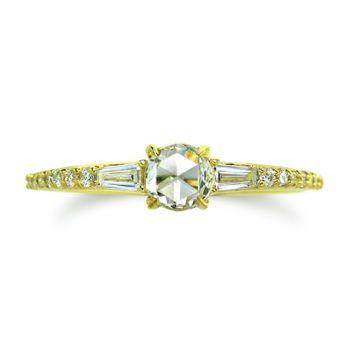 ILA 14k Yellow Gold Parson Diamond Ring