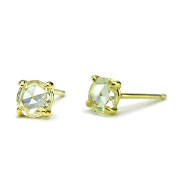ILA 14k Yellow Gold Clarence Diamond Earrrings