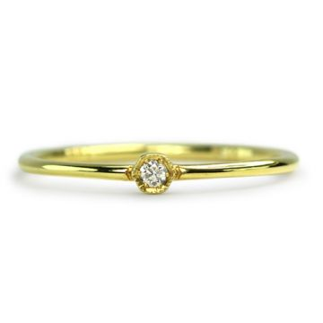 ILA 14k Yellow Gold Laney Diamond Ring