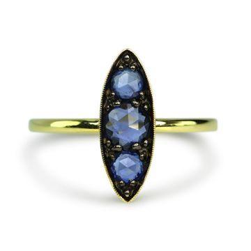 ILA 14k Yellow Gold Leonda Blue Sapphire Ring
