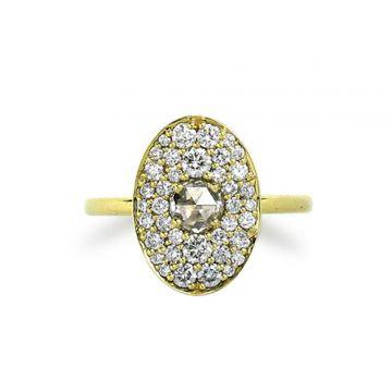 ILA 14k Yellow Gold Gallagher Diamond Ring