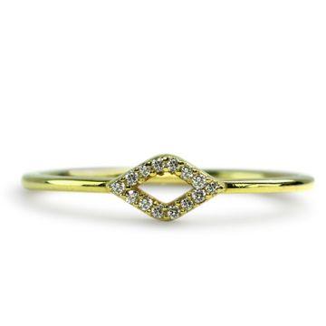 ILA 14k Yellow Gold Luciana Diamond Ring