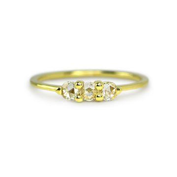 ILA 14k Yellow Gold Ferrier Diamond Ring