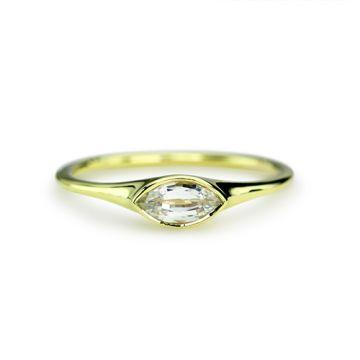 ILA 14k Yellow Gold McClure Diamond Ring