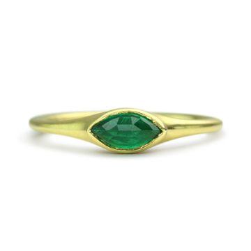 ILA 14k Yellow Gold McClure Emerald Ring