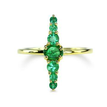 ILA 14k Yellow Gold Simeon Emerald Ring