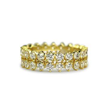 ILA 14k Yellow Gold Orbital Diamond Ring