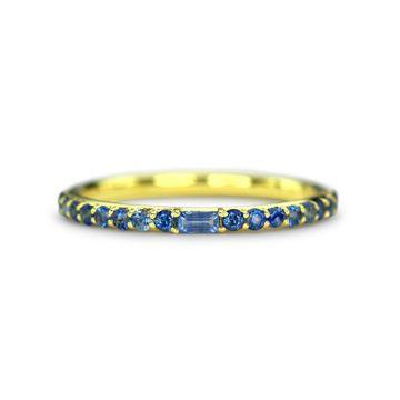 ILA 14k Yellow Gold Manava Blue Sapphire Ring