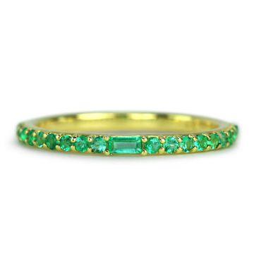 ILA 14k Yellow Gold Manava Emerald Ring