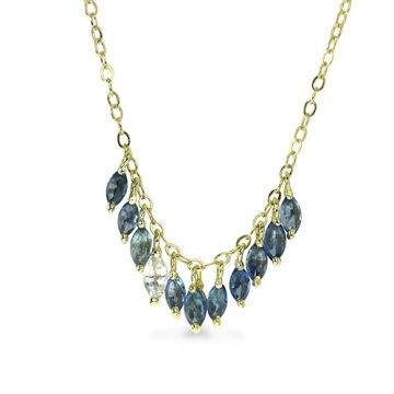ILA 14k Yellow Gold Maisie Blue Sapphire Necklace