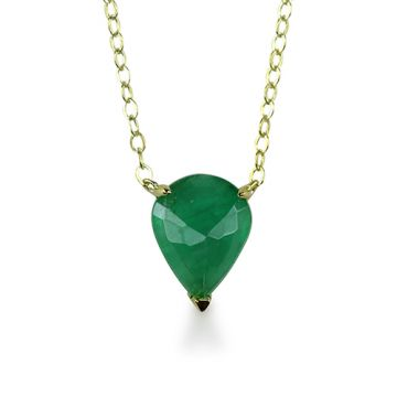 ILA 14k Yellow Gold Mason Emerald Necklace
