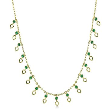 ILA 14k Yellow Gold Ameli Emerald Necklace