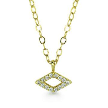 ILA 14k Yellow Gold Luciana Diamond Necklace