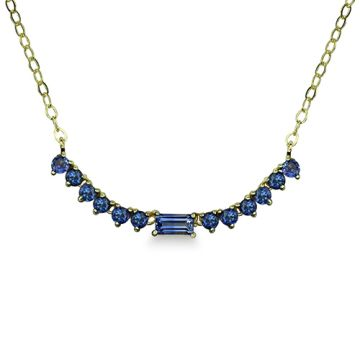 ILA 14k Yellow Gold Noemi Blue Sapphire Necklace