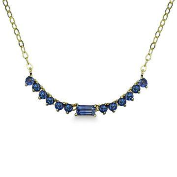 ILA 14k Yellow Gold Noemi Emerald Necklace