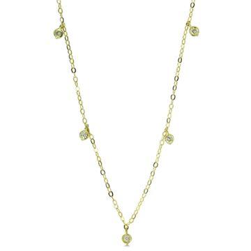 ILA 14k Yellow Gold Deborah Diamond Necklace