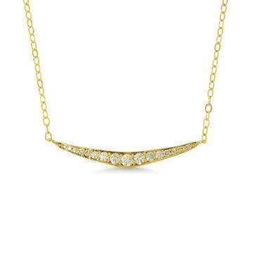 ILA 14k Yellow Gold Taylor Diamond Necklace