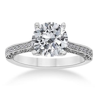Fischer 14k White Gold Tiffany Semi-Mount Engagement Ring
