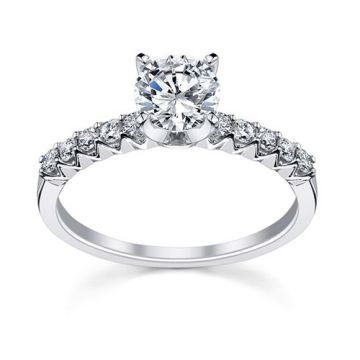 Fischer 14k White Gold Common Prong Engagement Ring