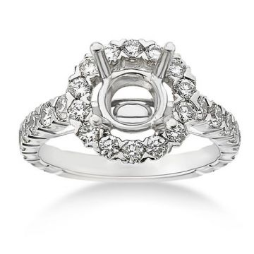 Fischer 14k White Gold Common Prong Semi-Mount Engagement Ring
