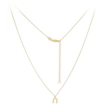 Midas 14k Yellow Gold Mini Wishbone Necklace