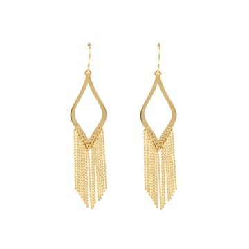 Midas 14k Yellow Gold Marquise Earrings
