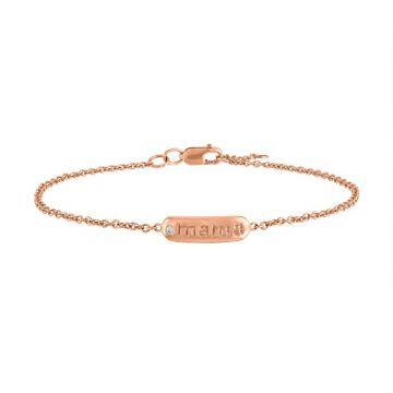 My Story 14k Rose Gold The Mckenna MAMA (Diamond) Bracelet