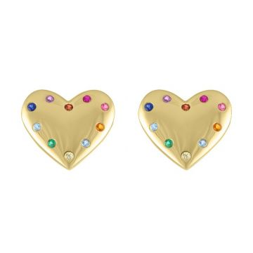 My Story 14k Yellow Gold The Reese (Rainbow) Studs