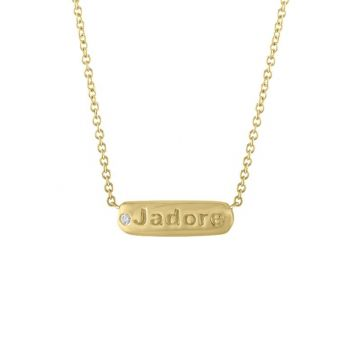 My Story 14k Yellow Gold The Petunia ?J?ADORE? (Diamond) Necklace