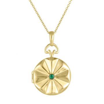 My Story 14k Yellow Gold The Allegra (Emerald) Locket