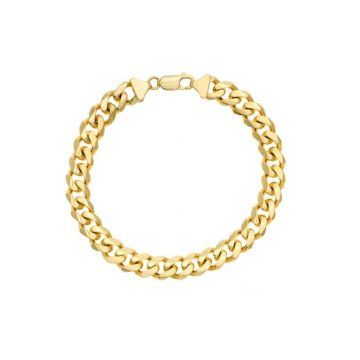 Midas 14k Yellow Gold 8.85mm Miami Cuban Link Bracelet