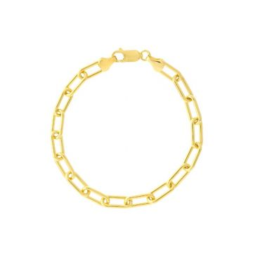 Midas 14k Yellow Gold 6mm Paper clip chain Necklace with lobster clasp